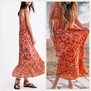 Zara Floral Print Maxi Sundress with Beads